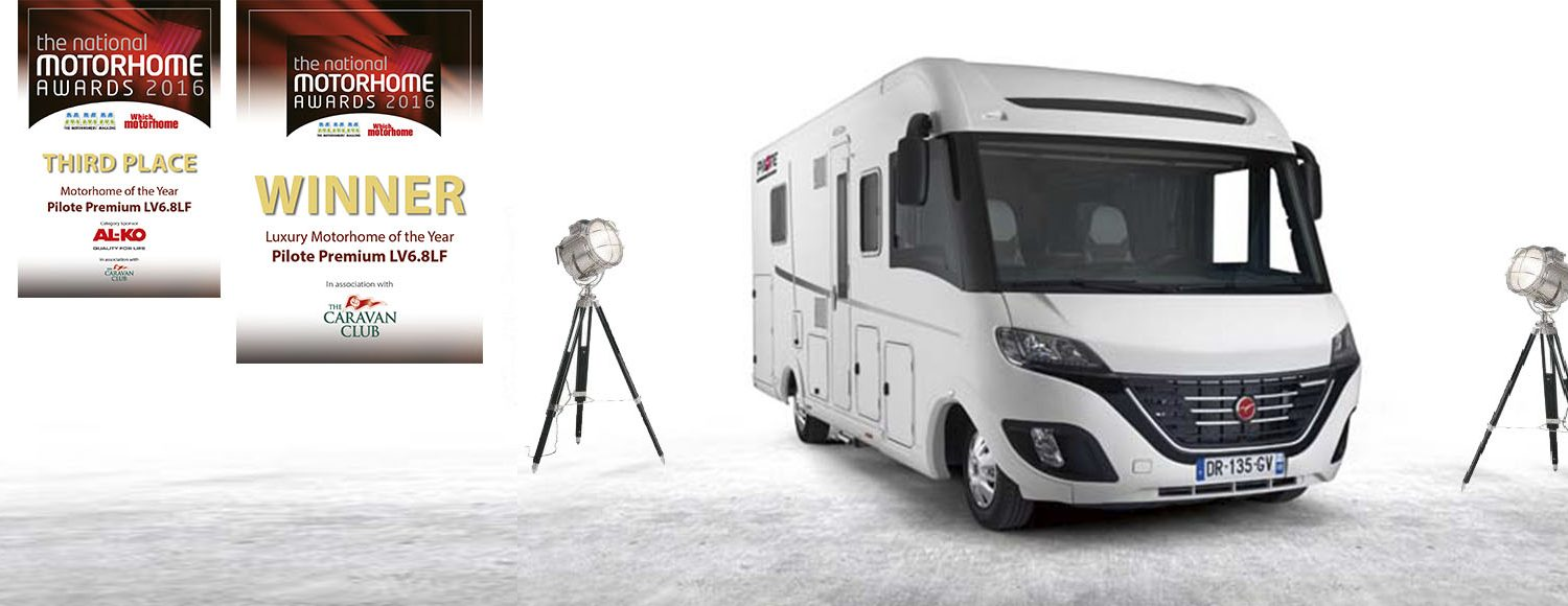 Winning Luxury motorhome of the year Pilote Premium Class LV6.8LF