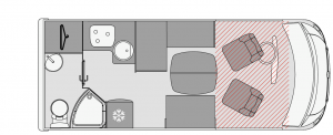 Layout without a permanent bed