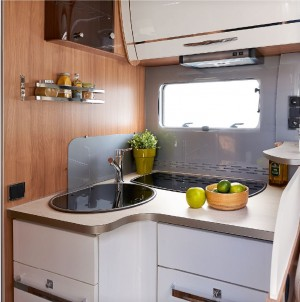 motorhome kitchen living area